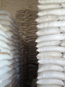 Coffee waiting to be milled